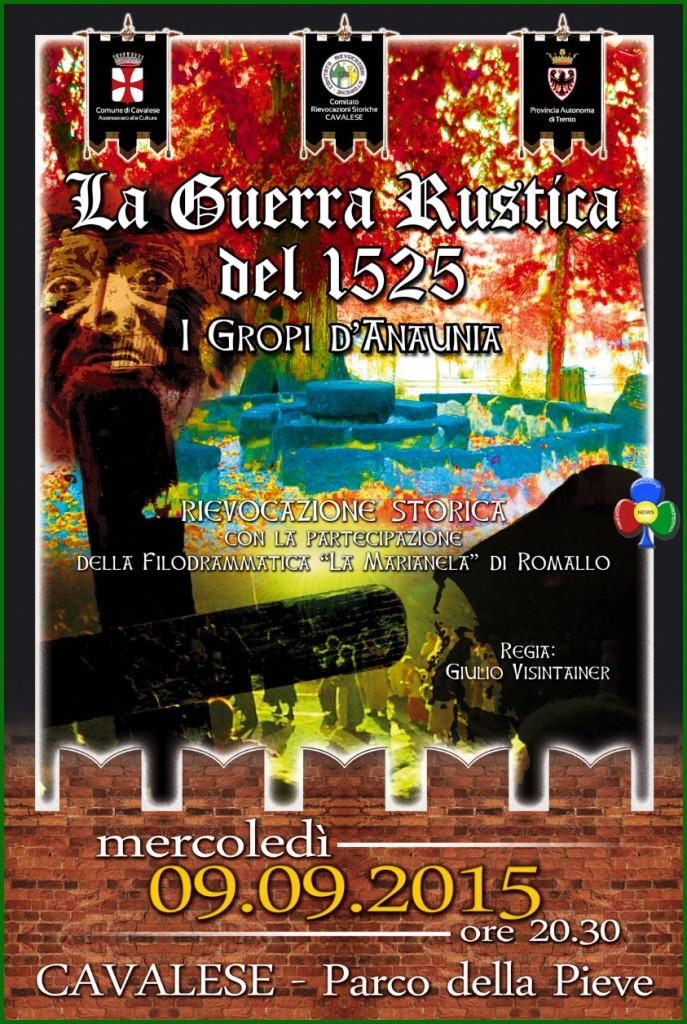 guerra rustica cavalese 2015 687x1024 La Guerra Rustica del 1525 rievocazione storica a Cavalese