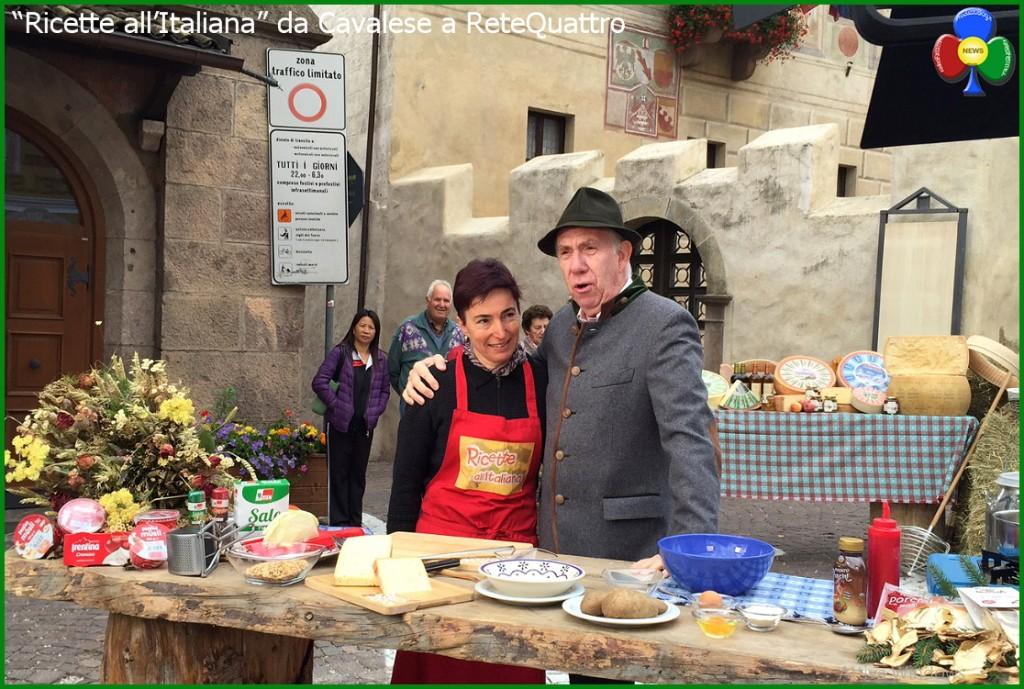 """ricette all italiana cavalese 1024x689 """"Ricette all'Italiana"""" in TV da Cavalese a Rete Quattro"""