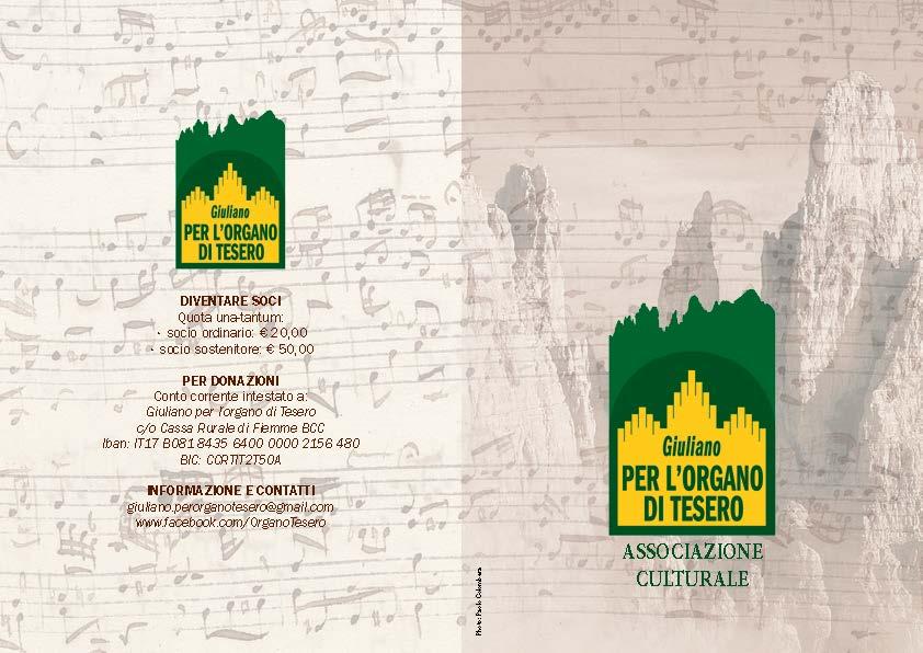 ORGANO pieghevA5 2ante ESA LITO WEB Page 1 Stabat Mater, concerto per lorgano di Tesero