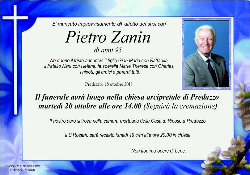 Zanin Pietro Avvisi Parrocchia 18/25 ottobre