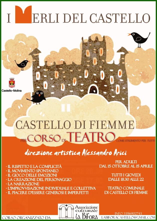 merli del castello I merli del Castello corso di teatro con Arici