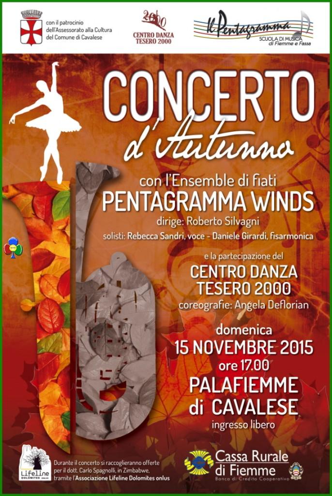 pentagramma winds concerto cavalese 2015 686x1024 Il debutto dei Pentagramma Winds al Palafiemme