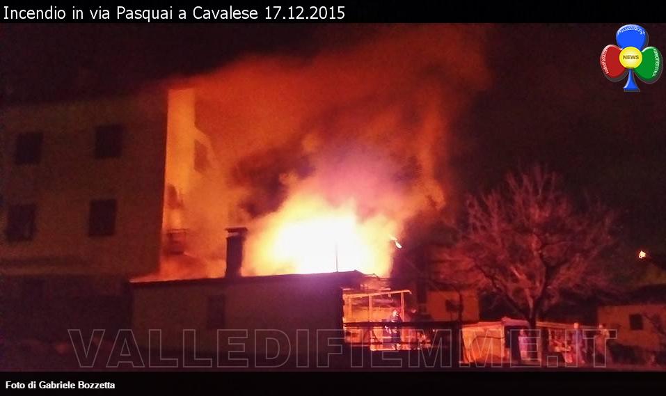 incendio via pasquai cavalese 17 dicembre 2015 valle di fiemme 1 Furioso incendio in via Pasquai a Cavalese
