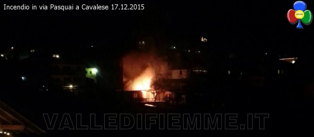 incendio via pasquai cavalese 17 dicembre 2015 valle di fiemme 1024x448 Furioso incendio in via Pasquai a Cavalese