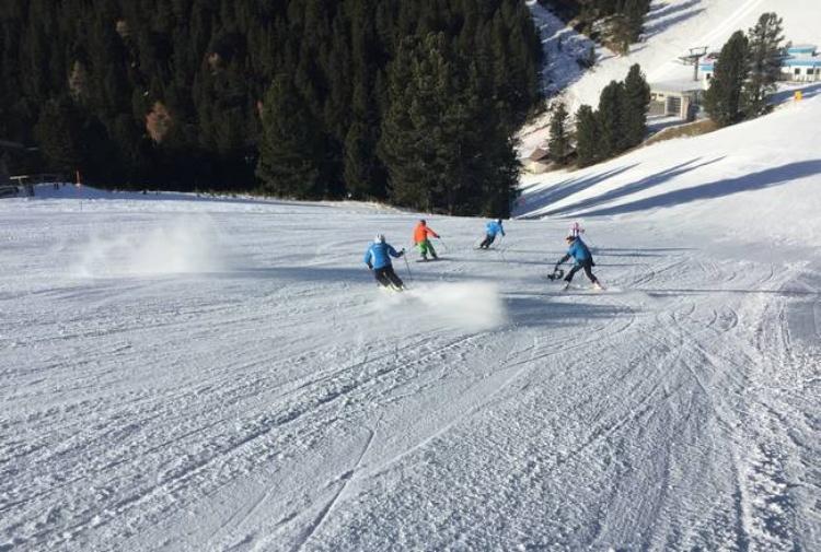 pista neve artificiale in valle di fiemme Niente neve, ma si scia benissimo sulle Dolomiti