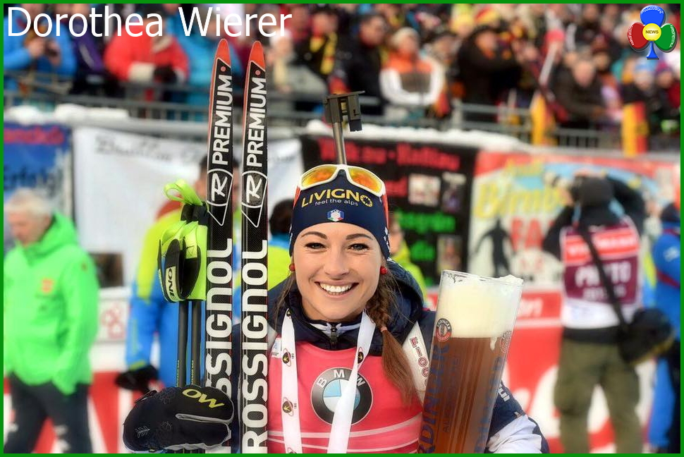 dorothea wierer biathlon Dorothea Wierer centra il secondo oro nel biathlon a Ruhpolding