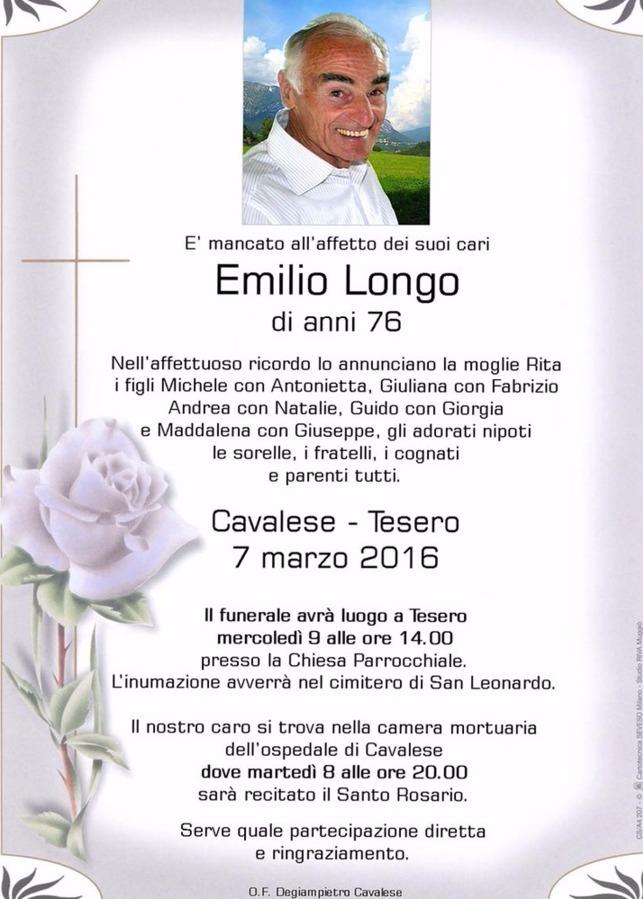 emilio longo tesero Tesero, muore Emilio Longo, maestro di sci e di vita