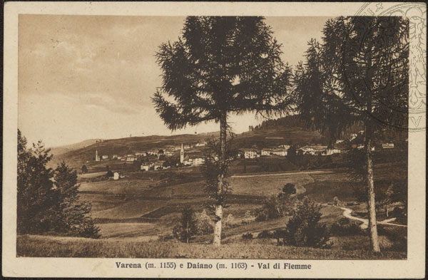 daiano varena storica Comune Ville di Fiemme, fusione di Carano Daiano e Varena