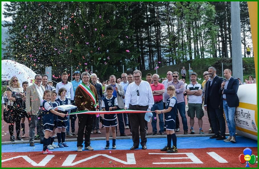 inaugurato campo sportivo sintetico cavalese Inaugurato il Campo Sportivo sintetico di Cavalese