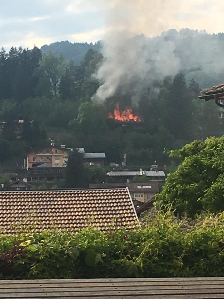 loris welponer Cavalese, incendio a Villa Covi