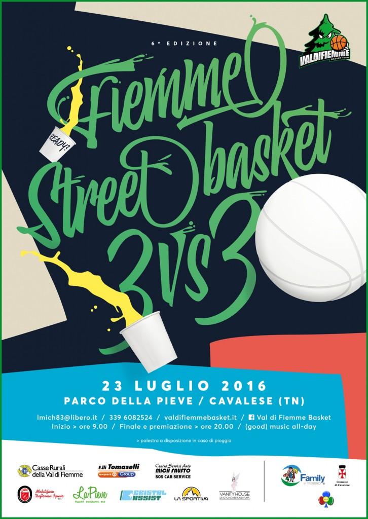 3vs3 2016 web sponsor 726x1024 Fiemme Street Basket 3Vs3: sabato 23 luglio a Cavalese