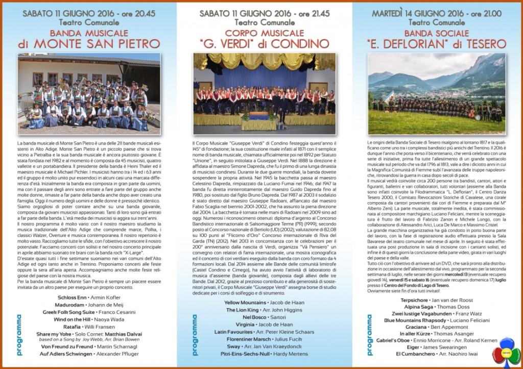 banda di tesero appuntamenti 1 2016 1024x723 20°rassegna Appuntamenti con la Banda a Tesero