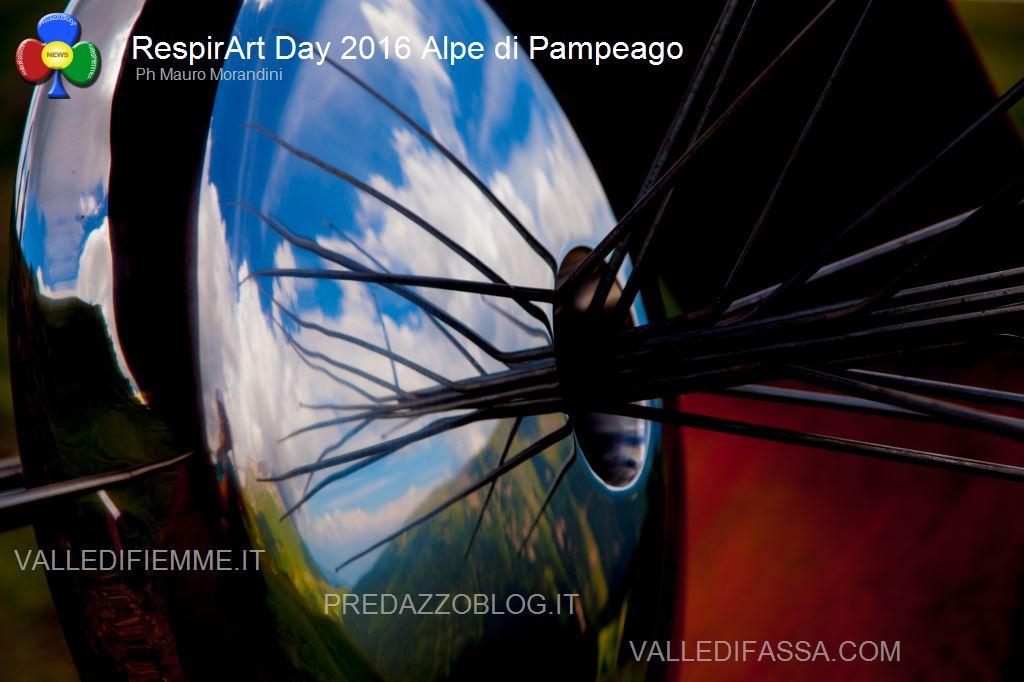 Il RespirArt Day 2016 alpe di pampeago fiemme100 Inaugurate 5 nuove opere in quota nel Parco d'Arte RespirArt