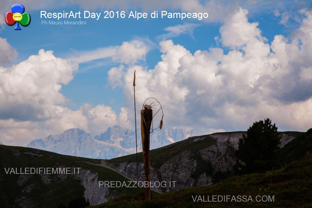 Il RespirArt Day 2016 alpe di pampeago fiemme103 Inaugurate 5 nuove opere in quota nel Parco d'Arte RespirArt