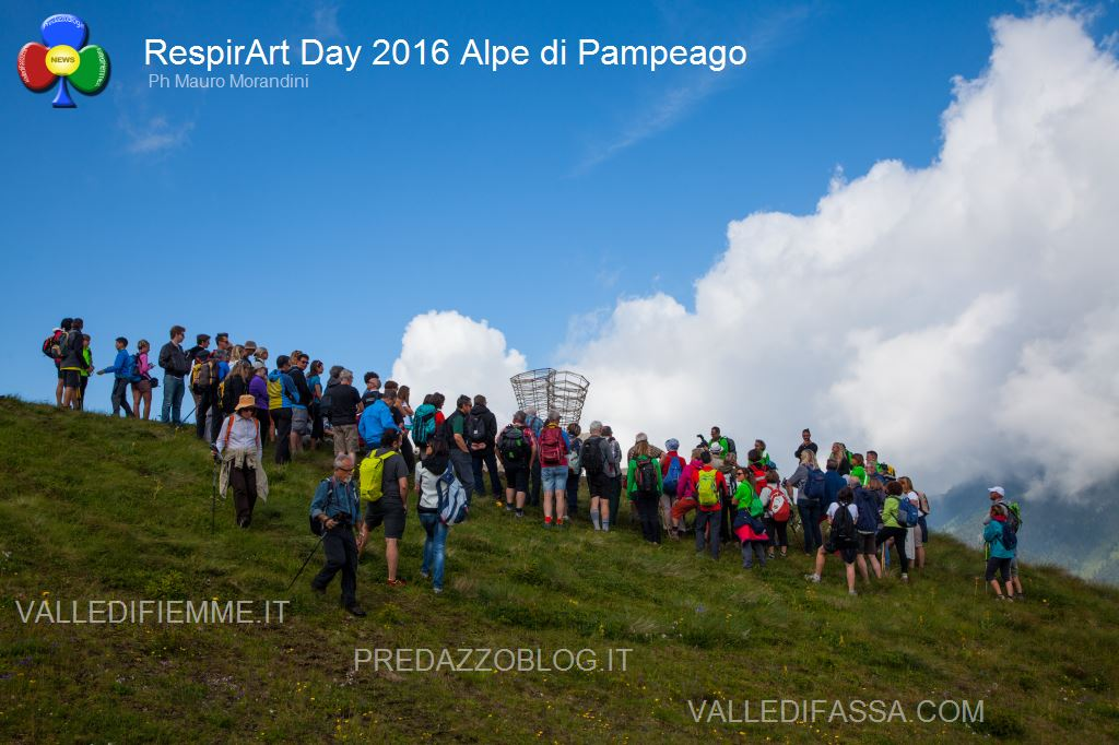 Il RespirArt Day 2016 alpe di pampeago fiemme23 Inaugurate 5 nuove opere in quota nel Parco d'Arte RespirArt