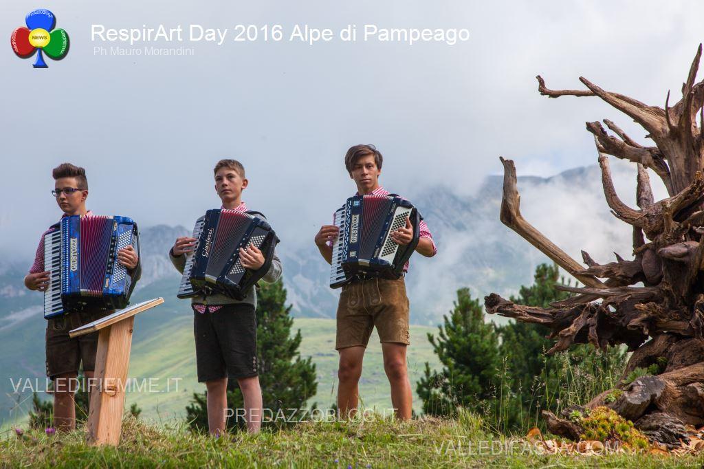 Il RespirArt Day 2016 alpe di pampeago fiemme49 Inaugurate 5 nuove opere in quota nel Parco d'Arte RespirArt