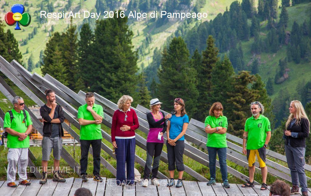 Il RespirArt Day 2016 alpe di pampeago fiemme56 Inaugurate 5 nuove opere in quota nel Parco d'Arte RespirArt
