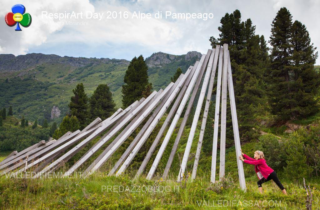 Il RespirArt Day 2016 alpe di pampeago fiemme66 Inaugurate 5 nuove opere in quota nel Parco d'Arte RespirArt