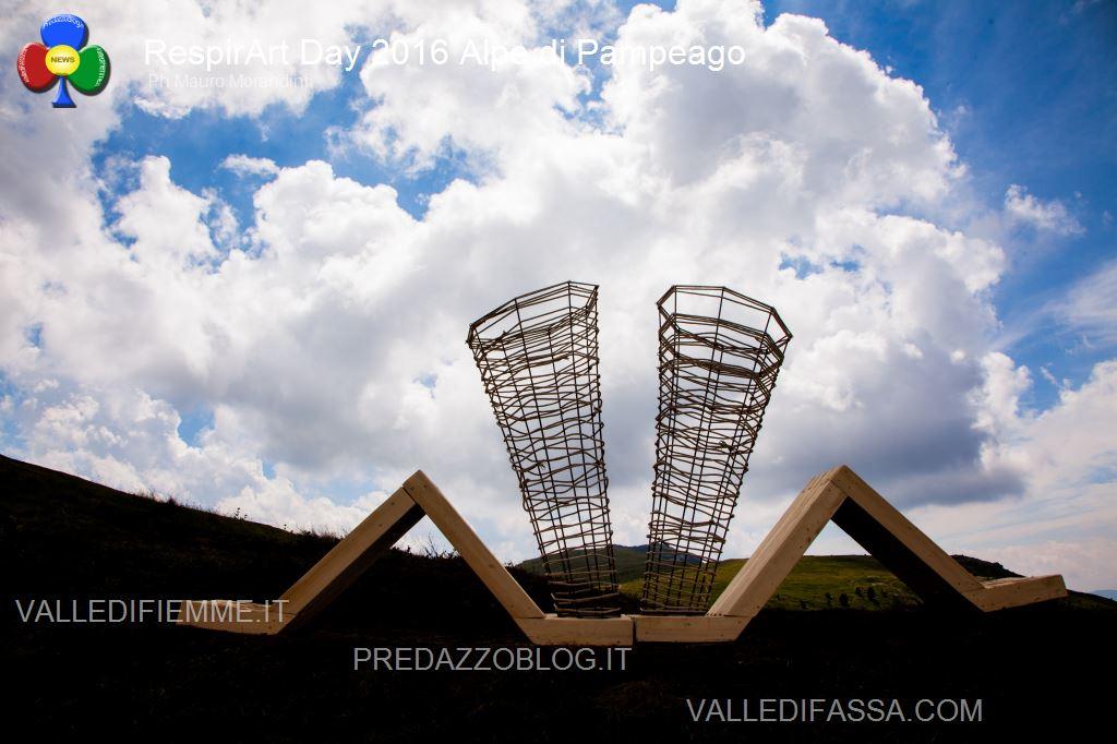 Il RespirArt Day 2016 alpe di pampeago fiemme94 Inaugurate 5 nuove opere in quota nel Parco d'Arte RespirArt