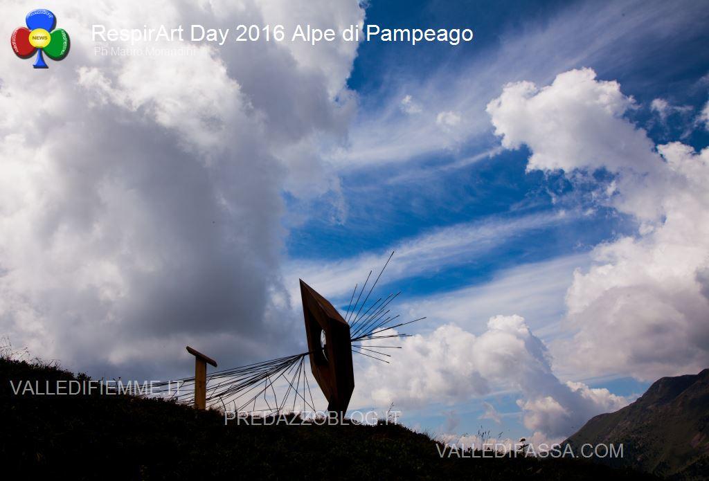 Il RespirArt Day 2016 alpe di pampeago fiemme98 Inaugurate 5 nuove opere in quota nel Parco d'Arte RespirArt
