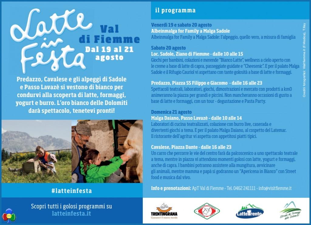 latte in festa fiemme programma 1024x742 Cavalese, Carlo Bridi al Festival del Latte