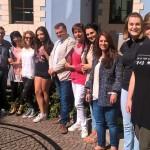 foto di gruppo con studentesse insegnanti tutor e amministratori 150x150 Comunità di Valle, due bandi per gli studenti di Fiemme