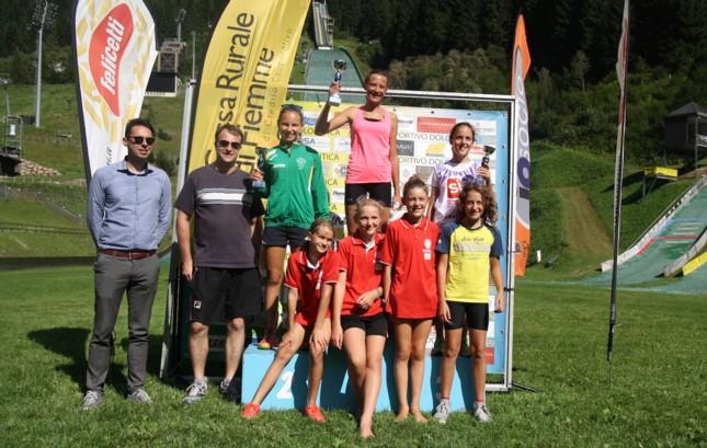 podio femminile Il Trofeo Pietro Pertile a Monteleone, Bortolas e Sieff
