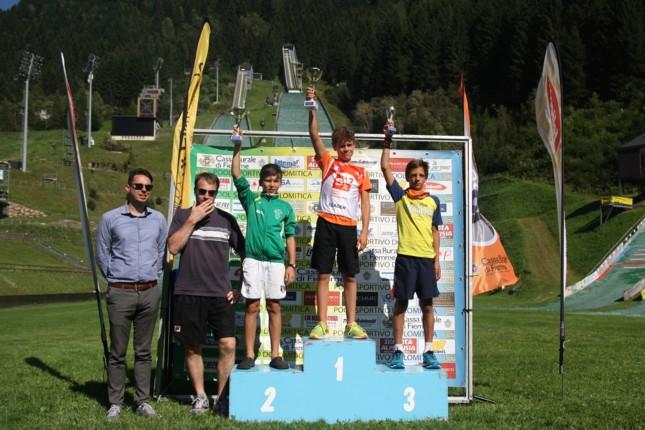podio maschile Il Trofeo Pietro Pertile a Monteleone, Bortolas e Sieff