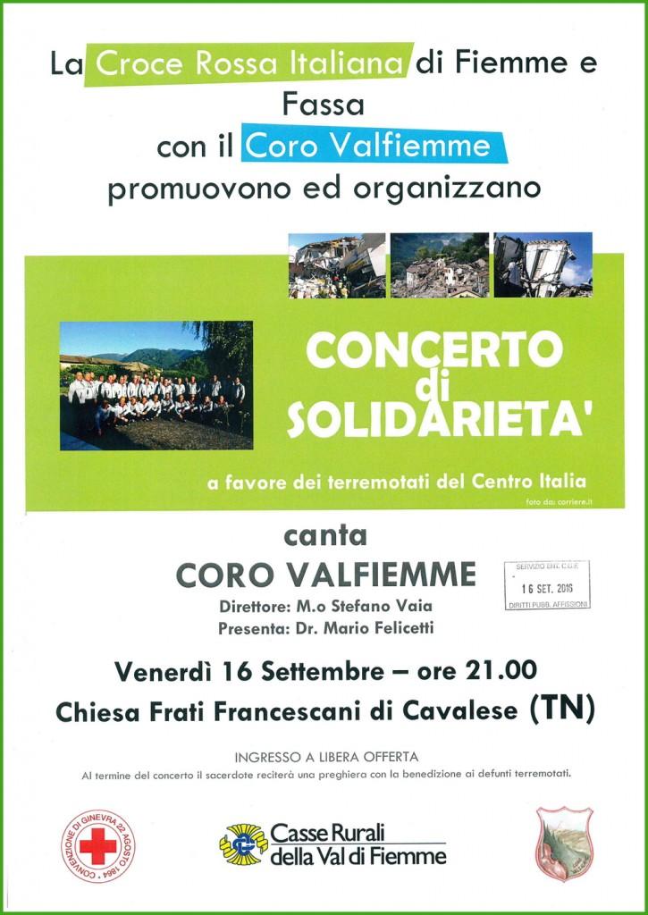 Concerto Coro Val Fiemme pro Terremotati Centro Italia 725x1024 Concerto pro terremotati a Cavalese