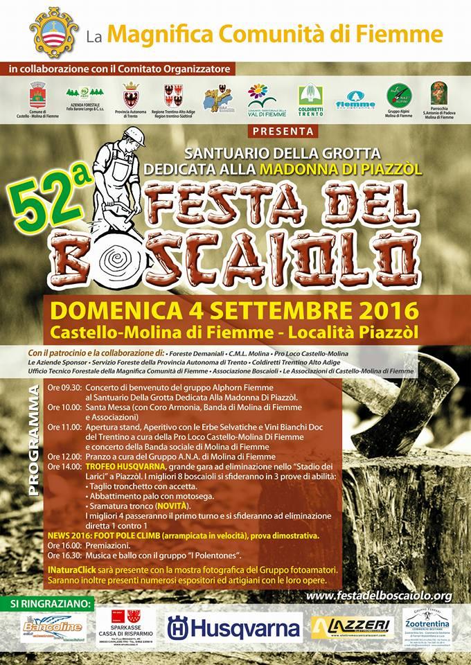 festa del boscaiolo 2016 52° Festa del Boscaiolo con Foot Pole Climb
