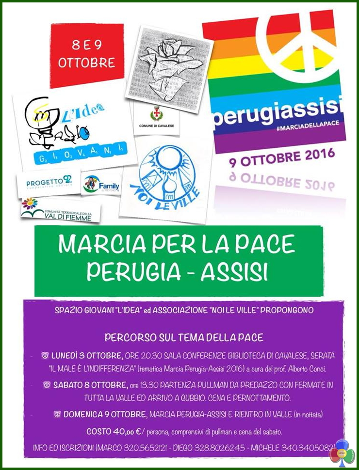 marcia per la pace perugia assisi Da Perugia ad Assisi per riflettere sulla pace