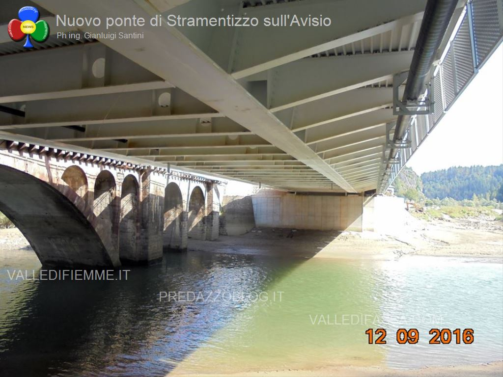 nuovo ponte di stramentizzo avisio fiemme14 Aperto il nuovo ponte di Stramentizzo, con 2 mesi di anticipo