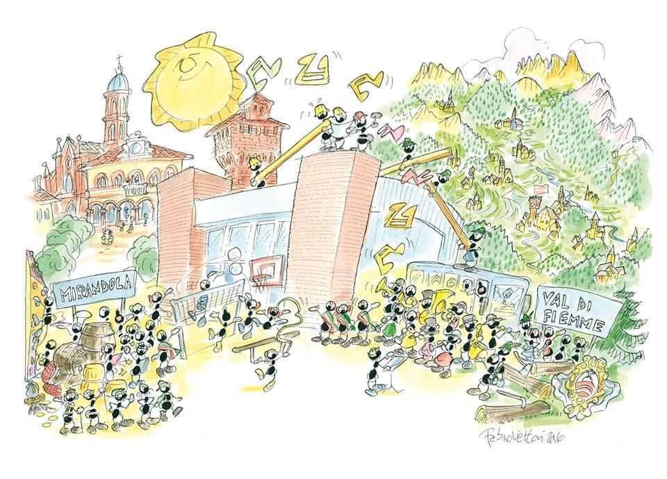 palestra mirandola fiemme 3 Inaugurata a Mirandola la Palestra solidale di Fiemme
