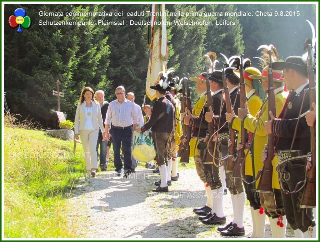 schutzenkompanie a cheta fiemme 1 1024x775 Schützenkompanie Fleimstal, non gradita alla processione