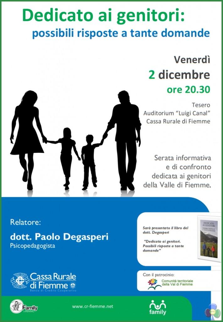 dedicato ai genitori 711x1024 Dedicato ai Genitori, serata informativa con Paolo Degasperi
