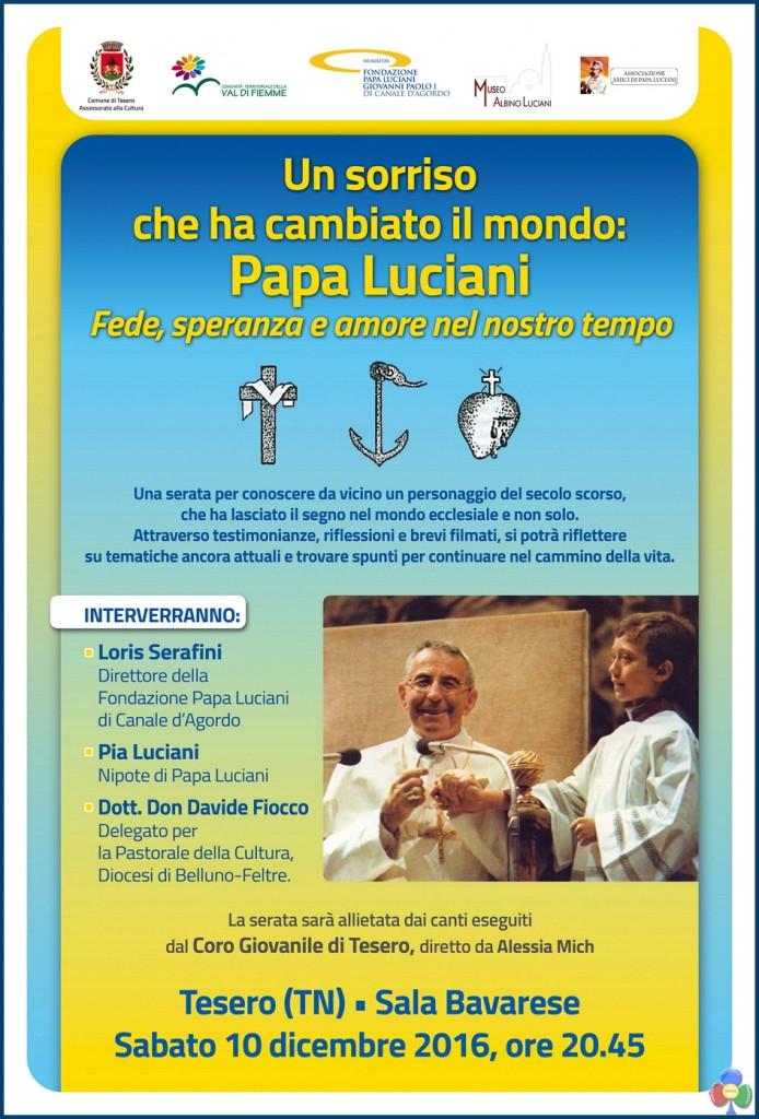 LOCANDINA PAPA LUCIANI 694x1024 Una serata per conoscere Papa Luciani