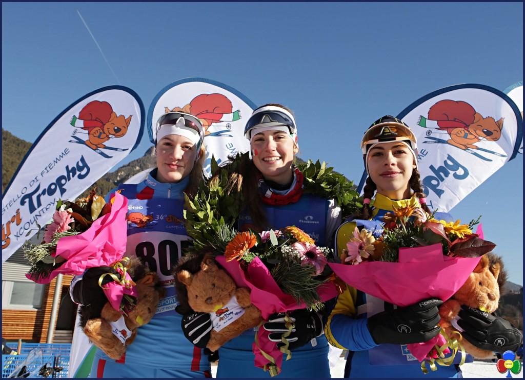 Skiri Trophy XCountry fiemme 2017 seconda giornata podio femm 1024x741 Seconda giornata di successo dello Skiri Trophy XCountry