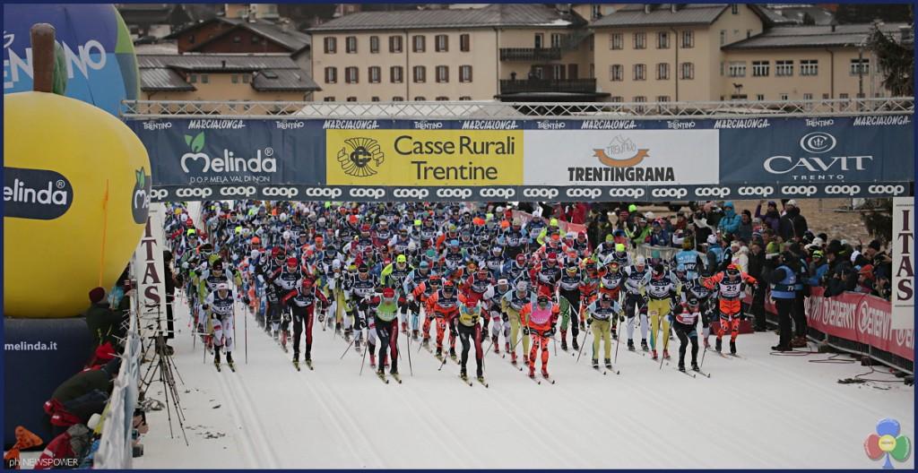partenza marcialonga 2017 1024x528 Marcialonga 2017 Gjerdalen cala il tris, 7541 concorrenti