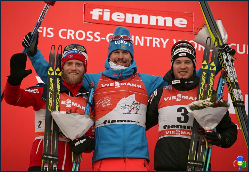 tour del ski 2017 podio maschile 1024x708 11° Tour de Ski Val di Fiemme, Sergey Ustiugov doma il leone Sundby