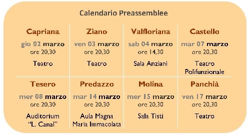 preassemblee cassa rurale fiemme 2017 Cassa Rurale di Fiemme, le date delle preassemblee
