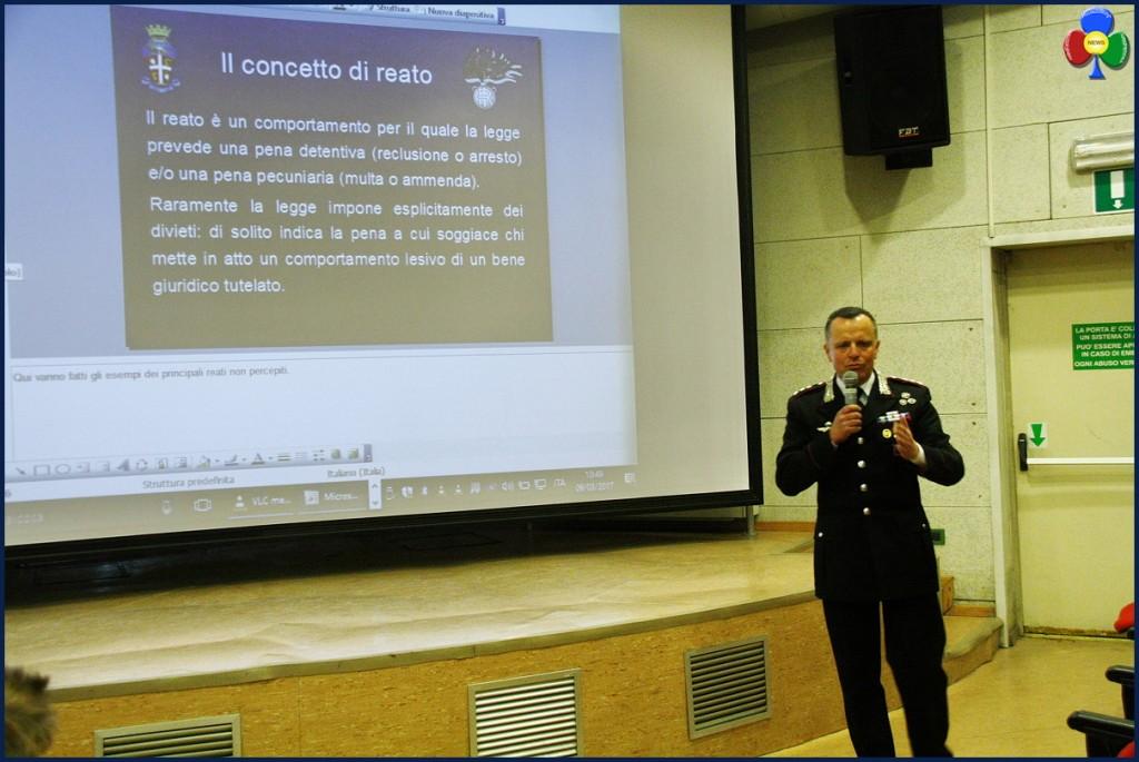 Capitano Molinari 1024x685 Il Capitano dei Carabinieri Enzo Molinari parla agli studenti