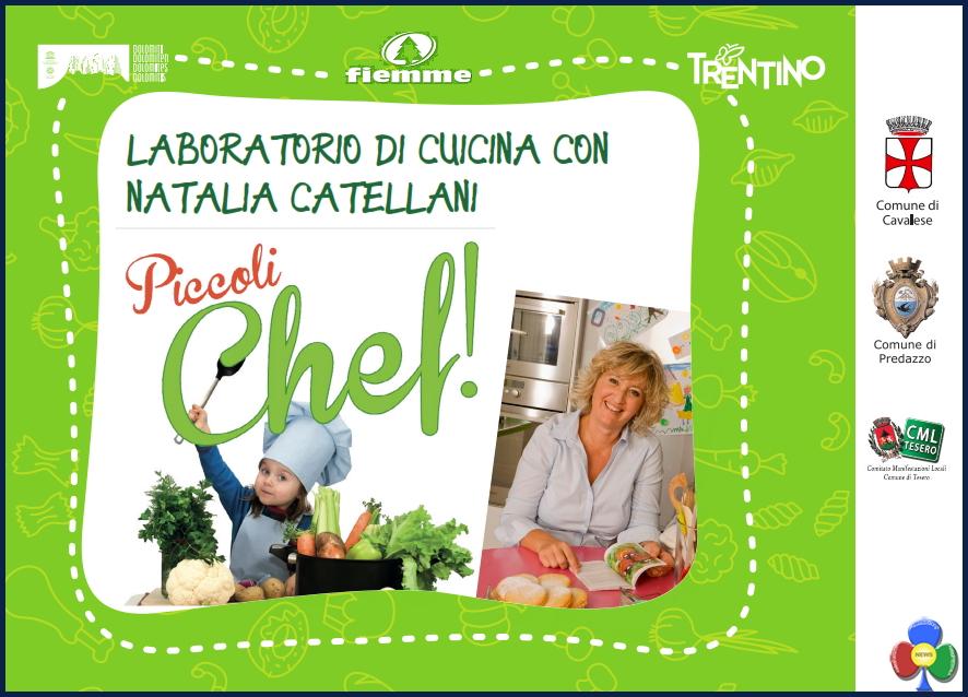 """piccoli chef in valle di fiemme con natalia cattelani Piccoli Chef con Natalia Cattelani della """"Prova del cuoco"""" di Rai Uno"""