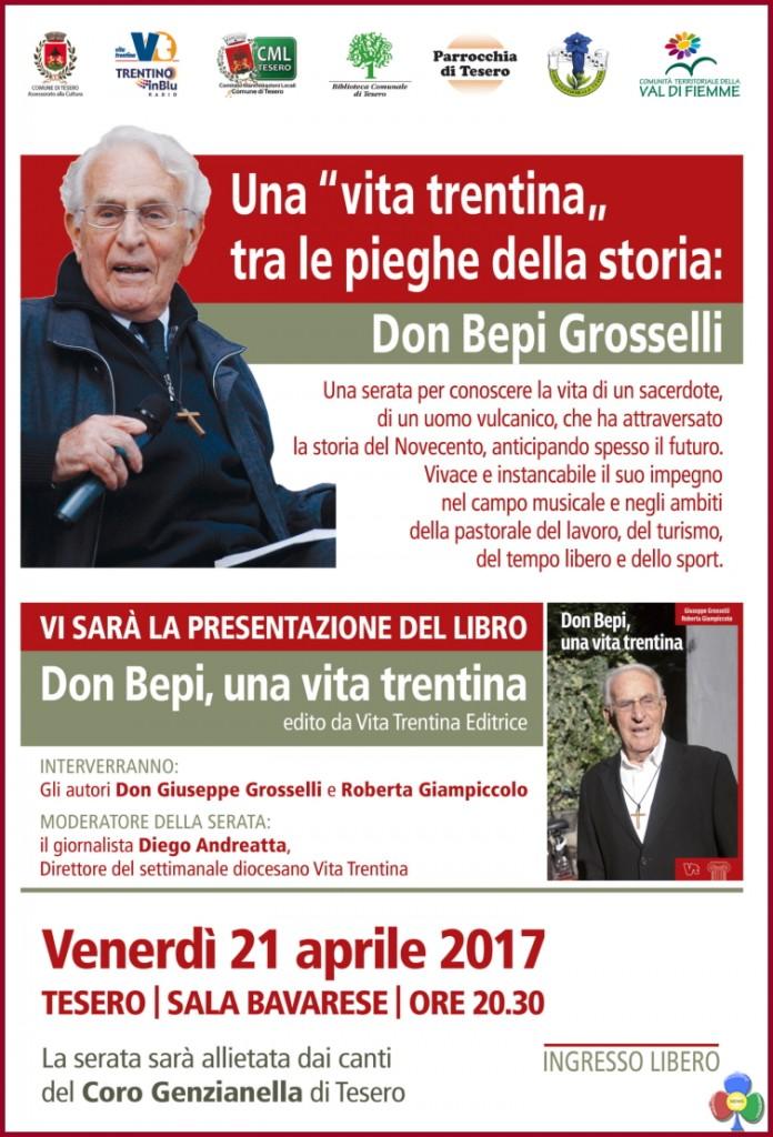 don giuseppe grosselli 696x1024 Don Giuseppe Grosselli a Tesero per una vita trentina