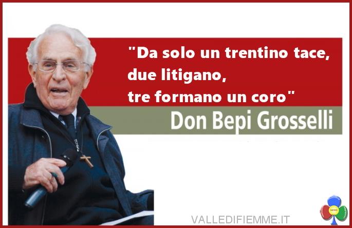 don giuseppe grosselli a tesero Don Bepi Grosselli a Tesero, ringrazia il paese e lascia il segno