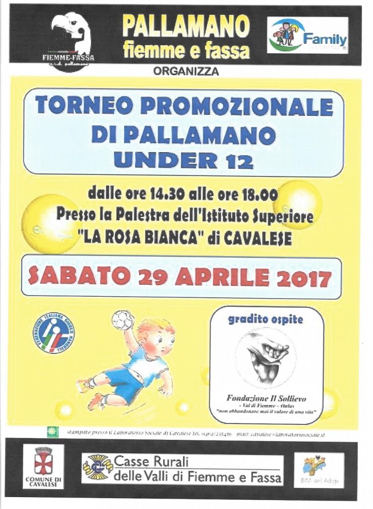 locandina torneo pallamano 751x1024 Torneo di Pallamano under 12 a Cavalese