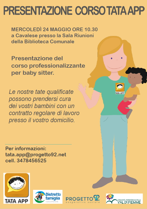 presentazione tata AAA TATE CERCANSI: PARTE UN CORSO DI FORMAZIONE