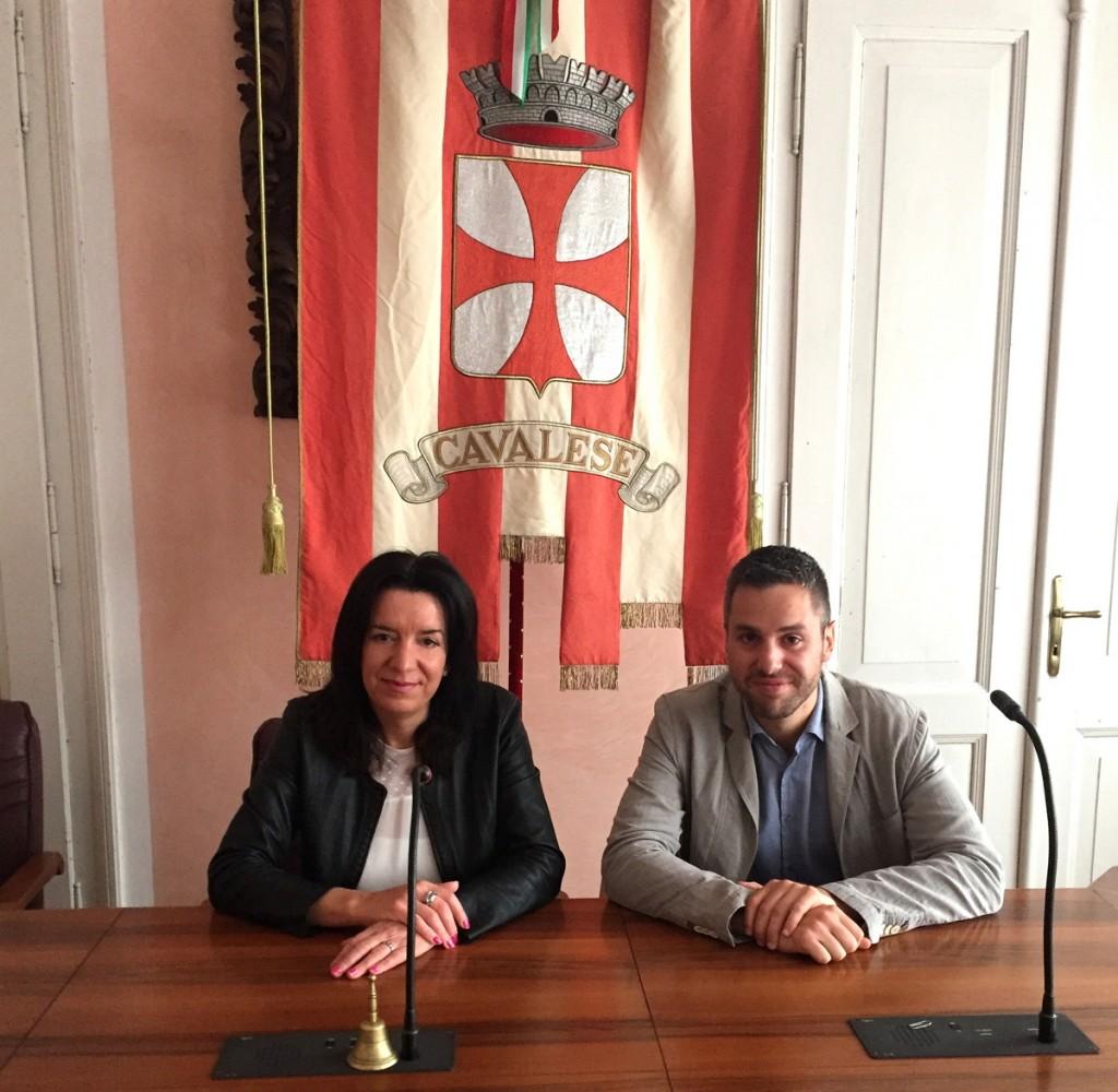 Maria Elena Gianmoena e Tiziano Berlanda 1024x1000 Le sedute del Consiglio Comunale di Cavalese in diretta streaming