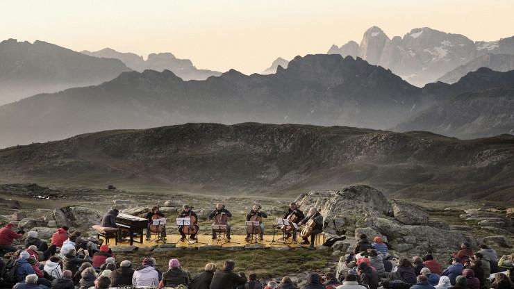 suoni delle dolomiti Alba delle Dolomiti Credits Daniele Lira I Suoni delle Dolomiti 2017 il programma in Trentino
