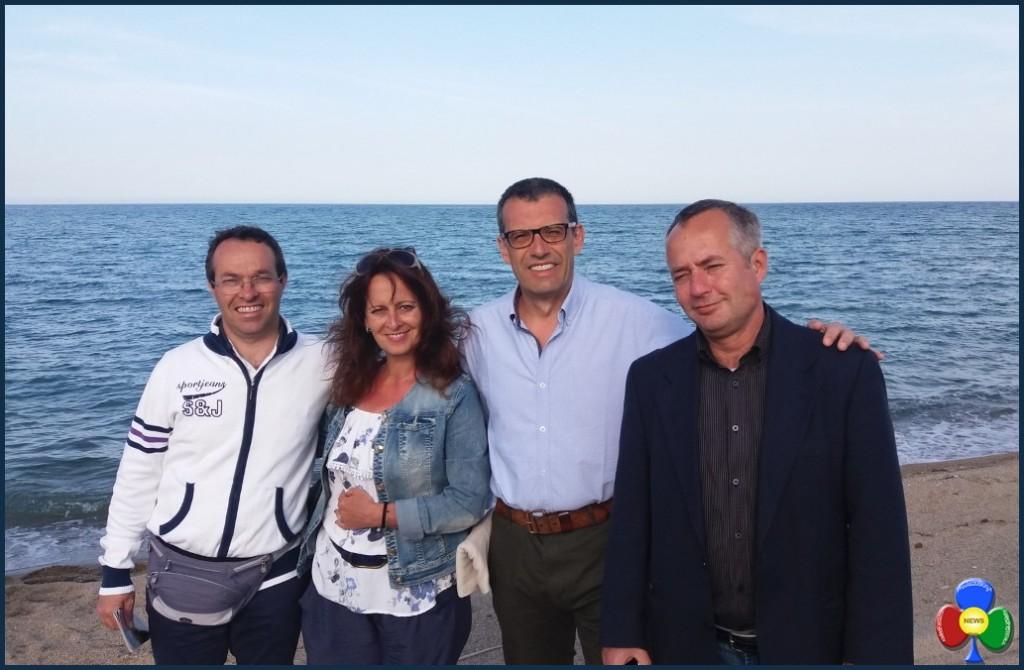 Il professore Giorgio Trettel Agata Russo Michele Malfer Loris Rossetto 1024x670 Un ponte di legalità tra Fiemme e Crotone
