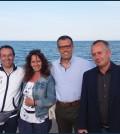 Il professore Giorgio Trettel, Agata Russo, Michele Malfer, Loris Rossetto